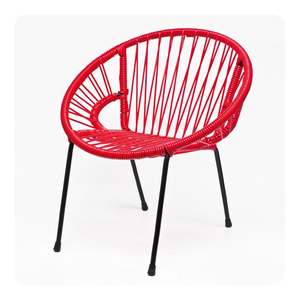 Red scoubidou tica chair laurette - Chaise rouge conforama ...