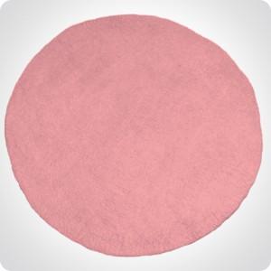 Tapis rond rose diam 120cm
