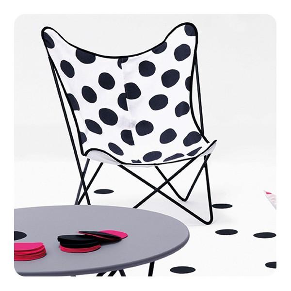 Chaise papillon dots grey laurette - Laurette meubles ...