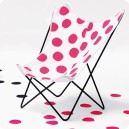 Chaise Papillon Dots pink