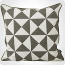 Coussin géométrique gris
