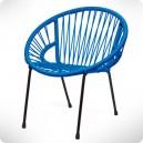 Chaise Tica Scoubidou bleue