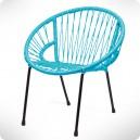 Chaise Tica Scoubidou turquoise