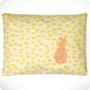 Coussin brodé Ananas