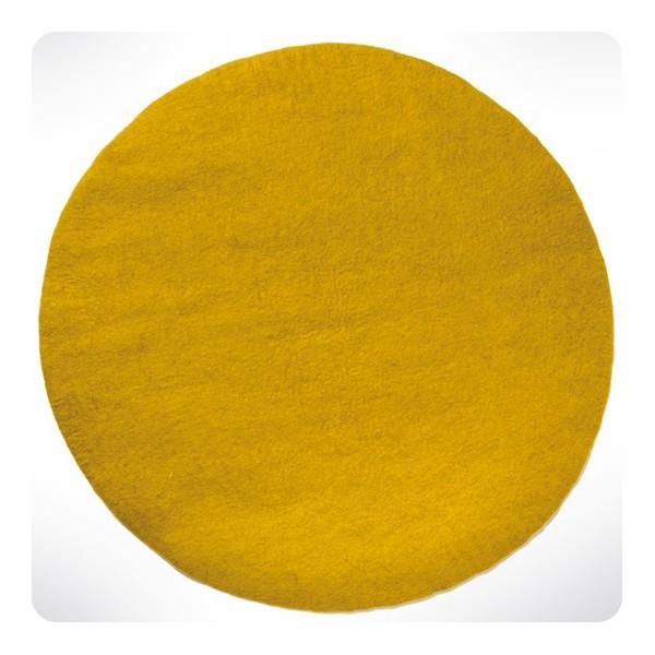 tapis rond gris clair diam 120cm - Tapis Rond Color