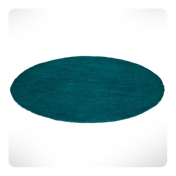 tapis rond bleu canard diam 120cm laurette. Black Bedroom Furniture Sets. Home Design Ideas