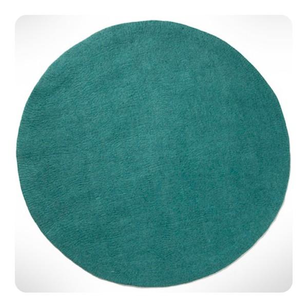 Tapis rond turquoise pastel diam 120cm laurette for Petit tapis rond