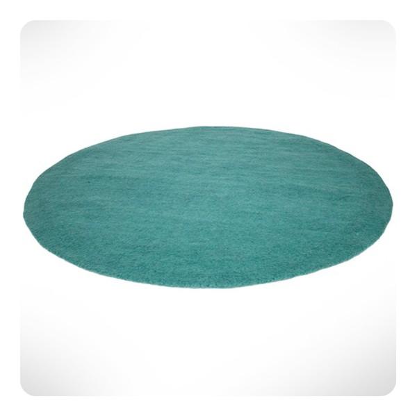 Tapis rond turquoise pastel diam 120cm - Laurette