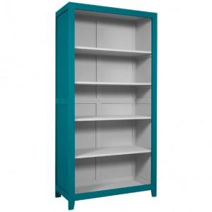 BibliothèqueParisienne bleu canard intérieur gris