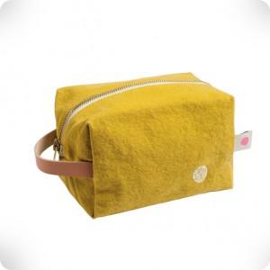 Cube shaped toilet bag
