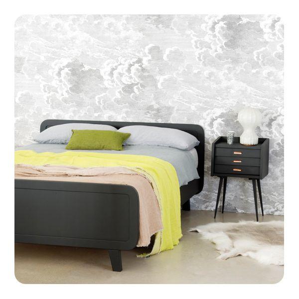 lit rond 140x200cm laurette. Black Bedroom Furniture Sets. Home Design Ideas