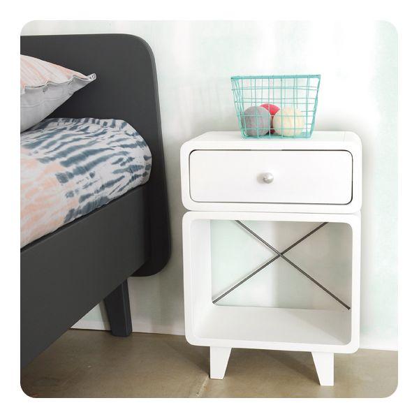 chevet suite de tables de chevet vintage caisse en bois table de chevet chevet ajouter au. Black Bedroom Furniture Sets. Home Design Ideas