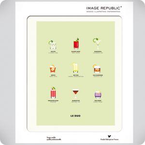 Affiche le duo cocktails