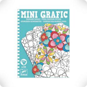 Mini grafic coloriages floraux