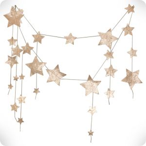 Guirlande d'étoiles or