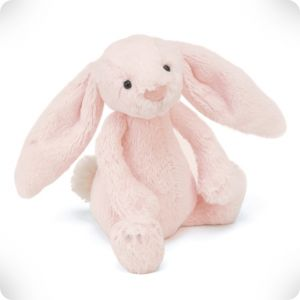 Doudou lapin rose blush Bashful M