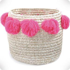 Large straw basket