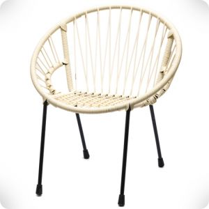 White scoubidou Tica chair