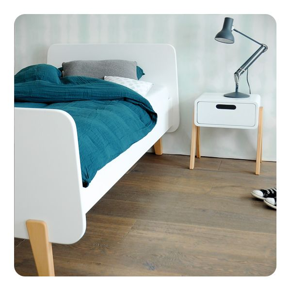lit mm pieds bois naturel 90x190cm laurette. Black Bedroom Furniture Sets. Home Design Ideas