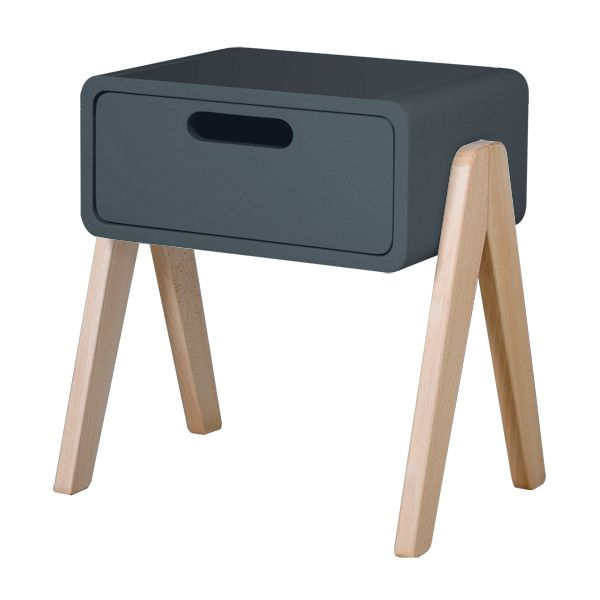 chevet petit robot pieds bois naturel laurette. Black Bedroom Furniture Sets. Home Design Ideas