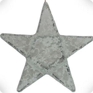 Lanterne étoile silver grey dentelle