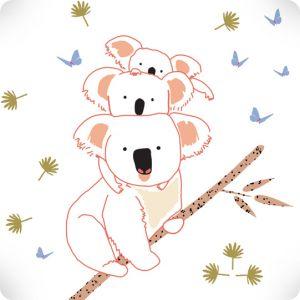Stickers Family Koala