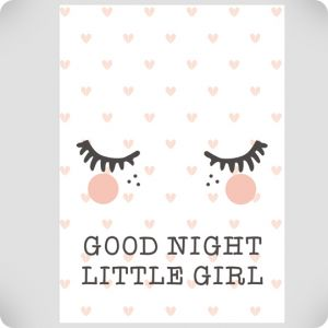Affiche good night little girl