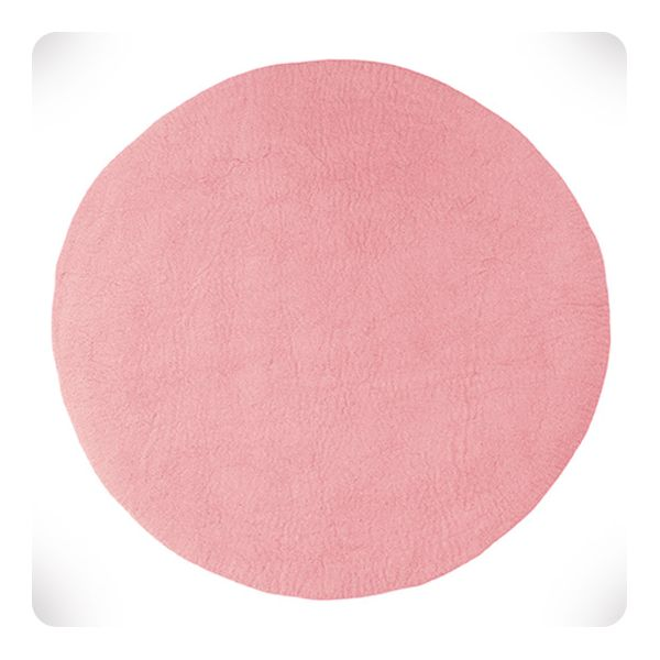 Tapis Rond Rose Indien Diam 120cm Laurette