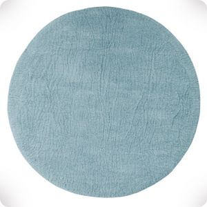 Tapis rond bleu minéral diam 120cm