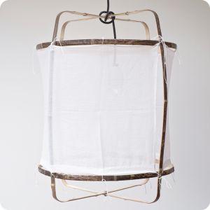 Suspension tissu et bambou
