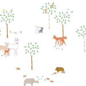Sticker Balade en forêt