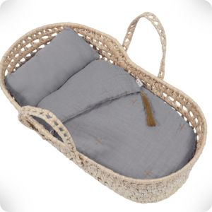 Doll basket stone grey