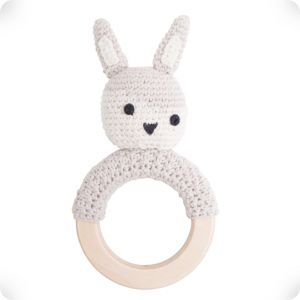 Wooden Fawn rattle ring