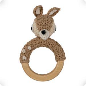 Hochet anneau en bois Faon