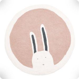 Quartz pink rug, diam. 120 cm