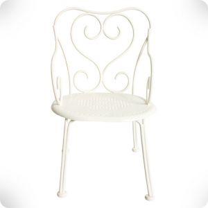 Chaise romantique métal