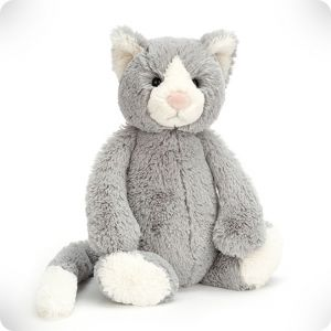 Doudou chat gris Bashful