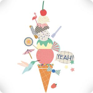 Sticker Ice cream