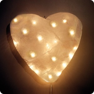 Heart Shaped Wall Lamp Fitting Laurette
