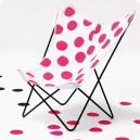 Chaise Papillon Dots pink