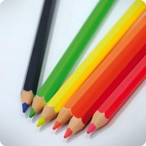 Crayons fluos