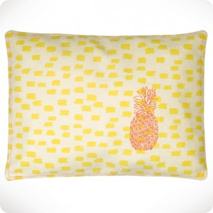 Ananas embroidered cushion