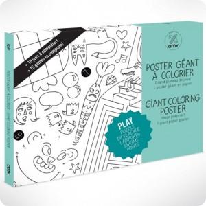 Poster play à colorier