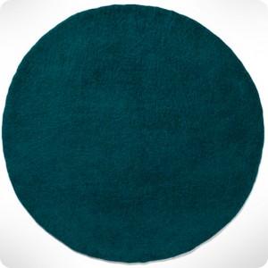 Tapis rond bleu canard diam 120cm