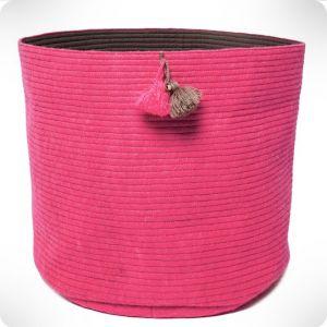 Basket with pompoms