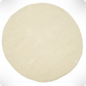 Natural round rug, diam. 120 cm