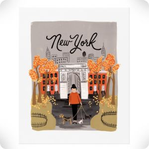 New York Automne poster