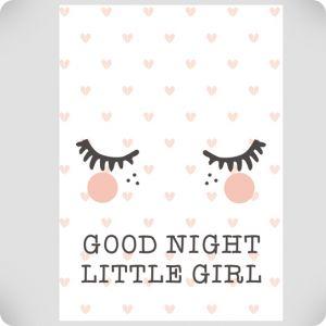 Affiche good night little girl