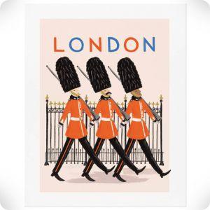 Affiche Londres soldats