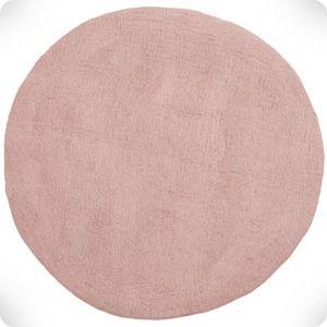Pink round rug, diam. 120 cm